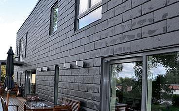 Монтаж вентилируемых фасадов из натурального сланца