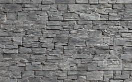 Фасадная панель из камня Black Slate