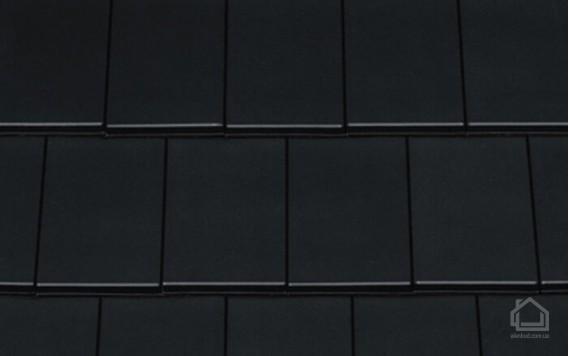Керамическая черепица CREATON модель Domino Finesse чёрный глазурь