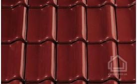 Керамическая черепица CREATON модель Futura Nuance винно-красный ангоб