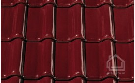 Керамическая черепица CREATON модель Futura Finesse винно-красный глазурь
