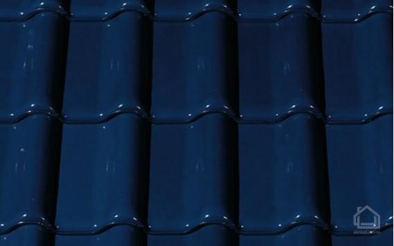 Керамическая черепица CREATON модель Futura Noblesse тёмно-синий глазурь