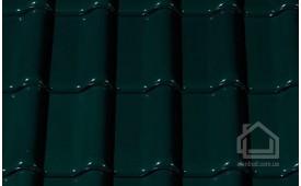 Керамическая черепица CREATON модель Futura Noblesse тёмно-зелёный глазурь