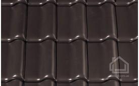 Керамическая черепица CREATON модель Futura Nuance темно-коричневый ангоб