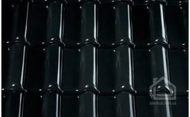 Керамическая черепица CREATON модель Premion Finesse чёрный глазурь