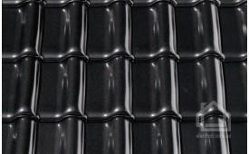 Керамическая черепица CREATON модель Premion Noblesse кристально-чёрный глазурь