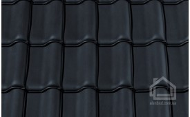 Керамическая черепица CREATON модель Premion Nuance чёрный матовый ангоб