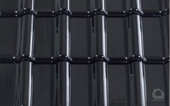 Керамическая черепица CREATON модель Titania Finesse черный глазурь