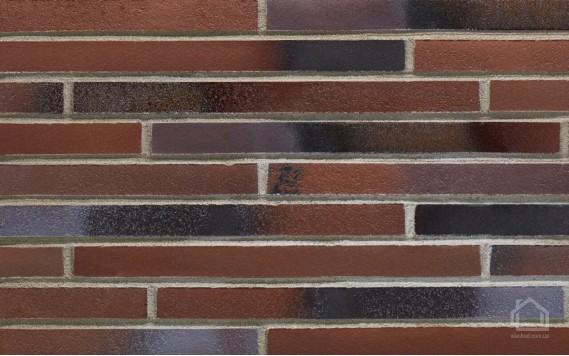 Клинкерная плитка STROEHER Riegel 50 цвет 455 Braun-blau