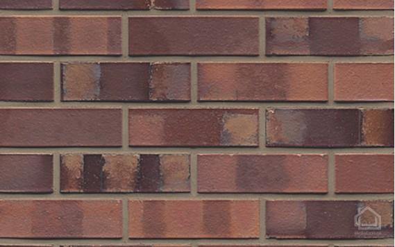 Клинкерный кирпич MUHR NF 04 S Rotbraun-bunt spezial glatt