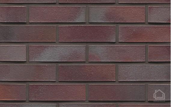 Клинкерный кирпич MUHR NF 10 Violettblau geflammt glatt