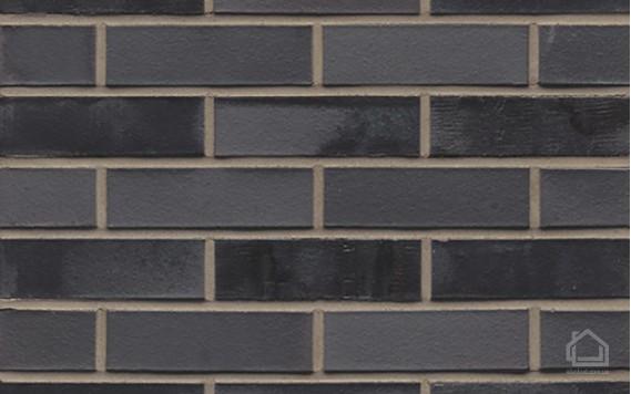 Клинкерный кирпич MUHR NF 15 Schwarz-bunt edelglanz glatt