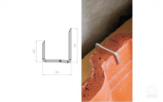 Зажим для цементно-песчаной черепицы MDM тип U