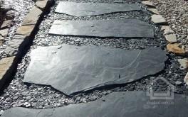 Полигональные плиты из сланца Assulo Schiefer