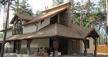 Загородный дом, гараж и баня